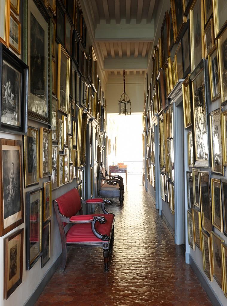 Galerie des gravures, Chateau de Digoine © Christian Sarramon