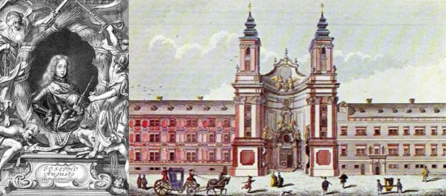 Joseph I. (1678–1711) und das Dorotheerstift um 1730.