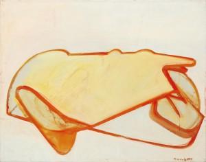 "Maria Lassnig,""Selbstporträt als Auto"", 1963, Schätzwert € 130.000 - 220.000"