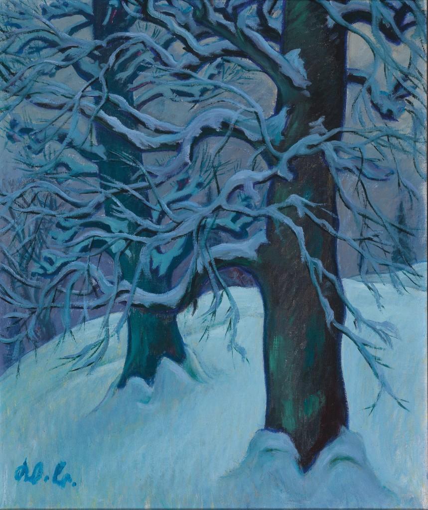 Werner Berg - Linden im Schnee