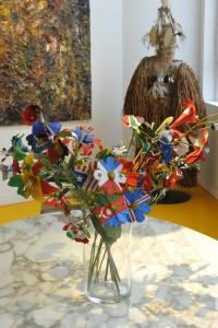 Blumenbouquet aus Nationalflaggen von Franck Scurti