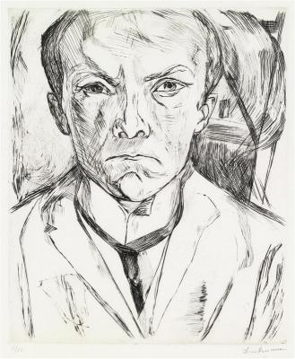 Self-portrait drawn in 1918