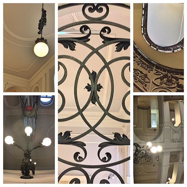 Collage of grillwork inside Dorotheum auction house