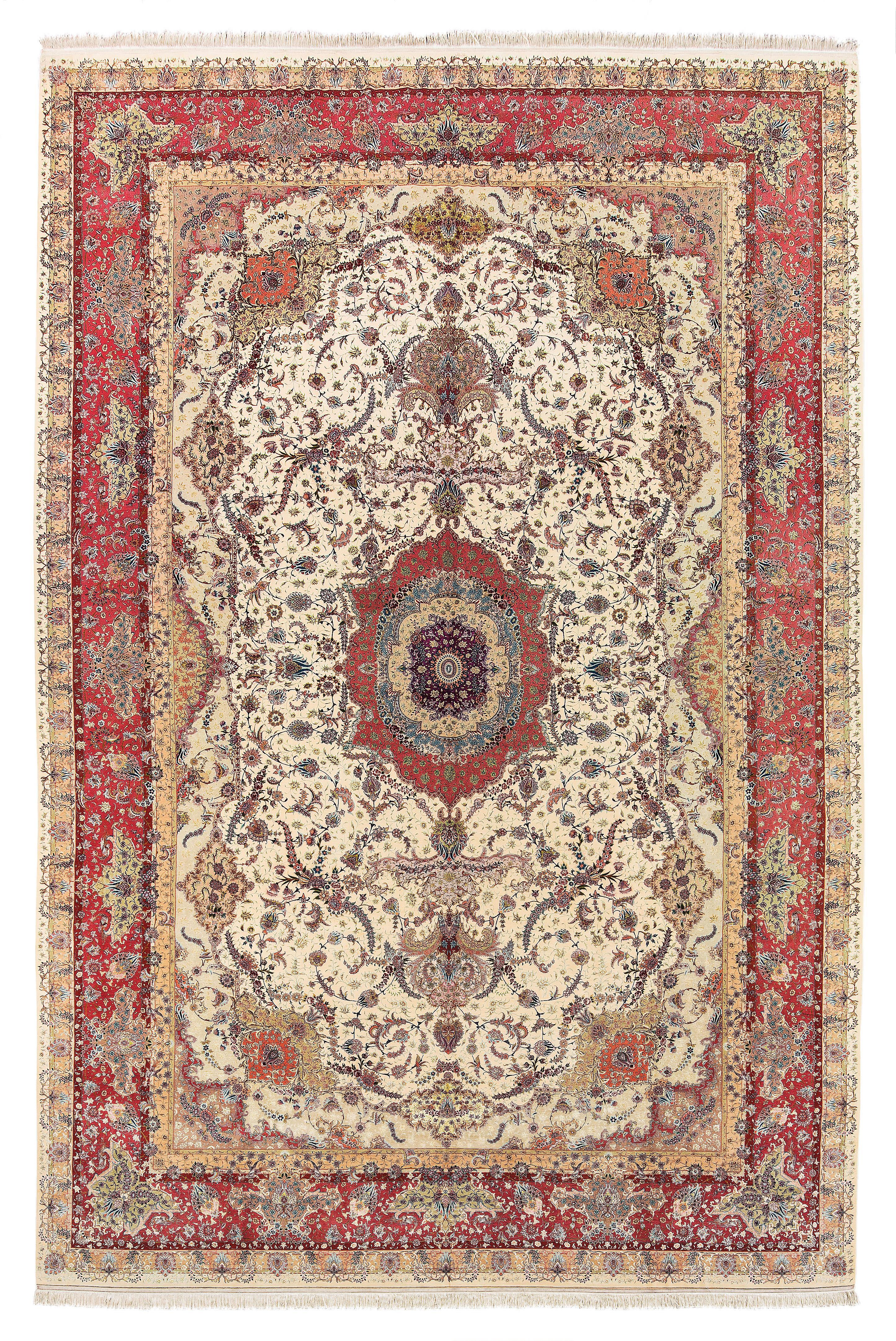 Signierter Teppich mit Signatur der Meisterwerkstätte 'Baft Babaei'. Rufpreis €50.000.