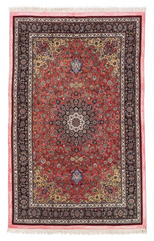 Signierter Teppich aus der Werkstatt Mesched Amoghli in Nordostpersien, um 1940, Rufpreis €25.000