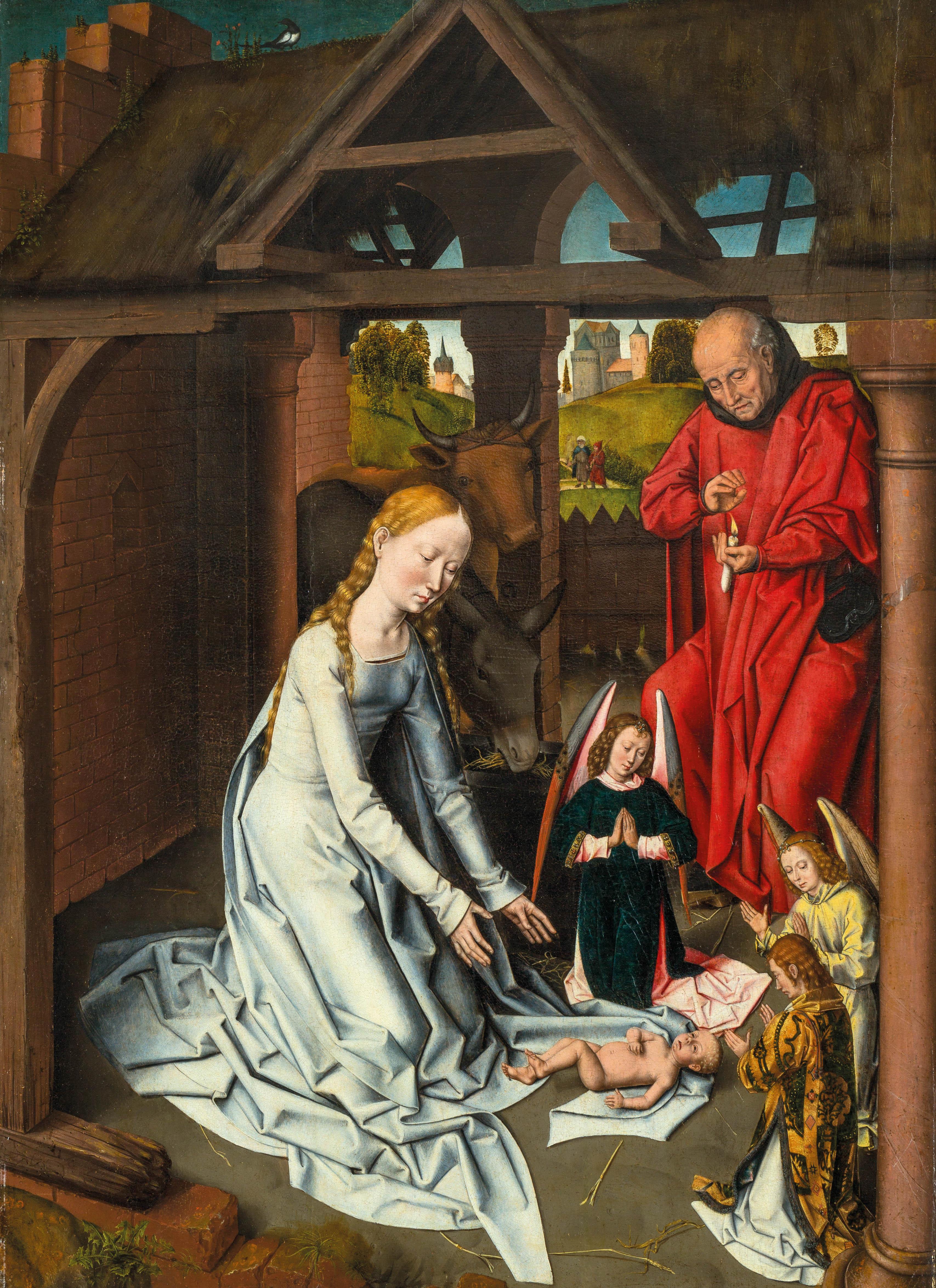 Workshop Of Hans Memling Nativity Masterful Hand