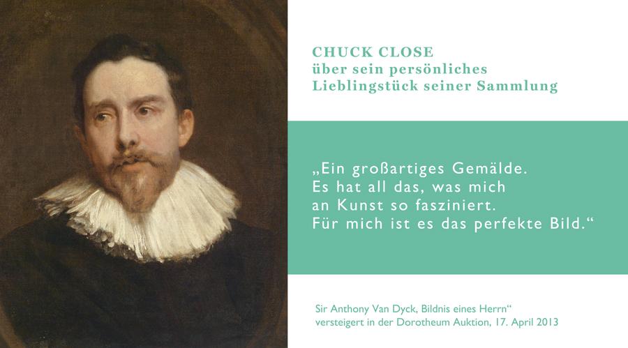 Sir Anthony Van Dyck, Bildnis eines Herren. Versteigert im Dorotheum am 17. April 2013
