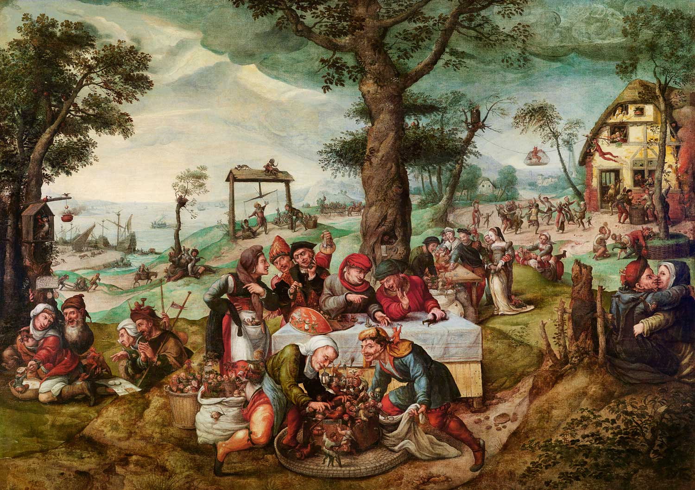 Frans-Verbeeck, Der-Narrenhandel, Öl auf Leinwand, Auktion Alte Meister, Oktober 2014