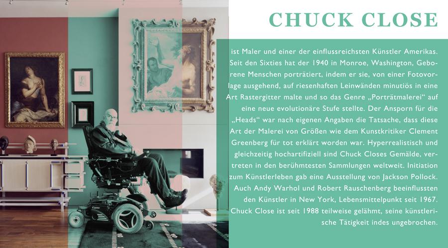 Chuck Close Biographie, Foto Stefan Ruiz