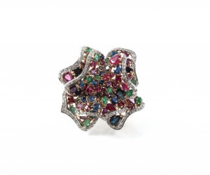 jewellery photo of diamond coloured stone ring