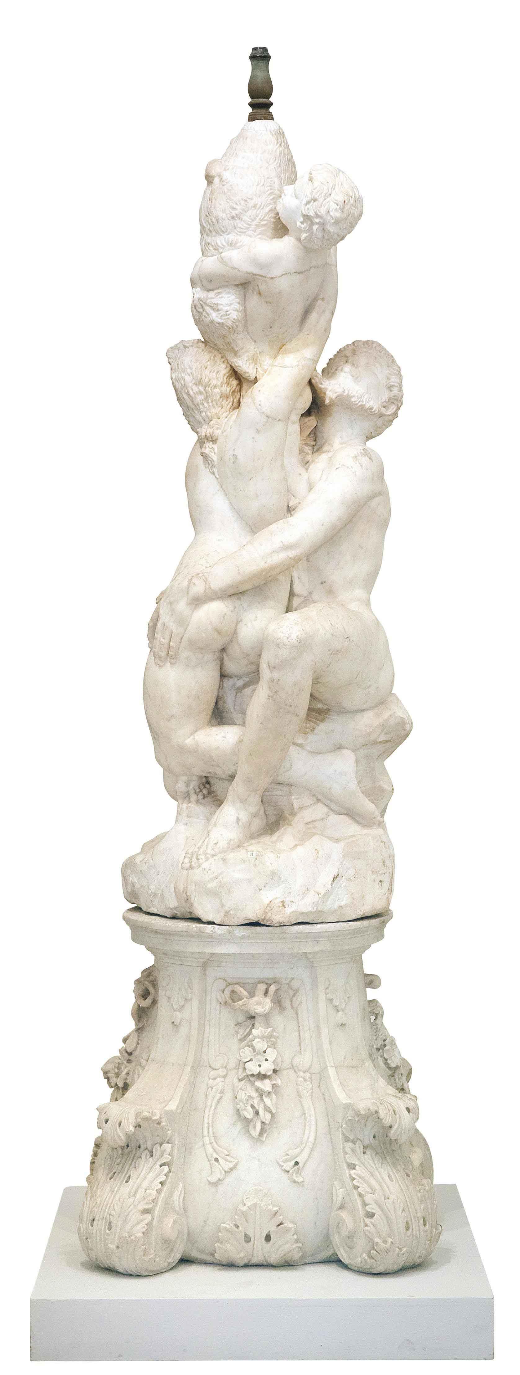 Lot 201: Museale Marmorgruppe, Balthasar Permoser (1651 - 1732) zugeschrieben, € 50.000 – 60.000