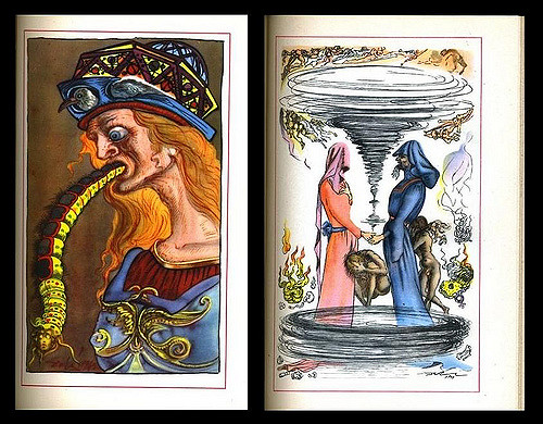 Salvador Dalí's illustrations for Cellini's autobiography, 1948 edition
