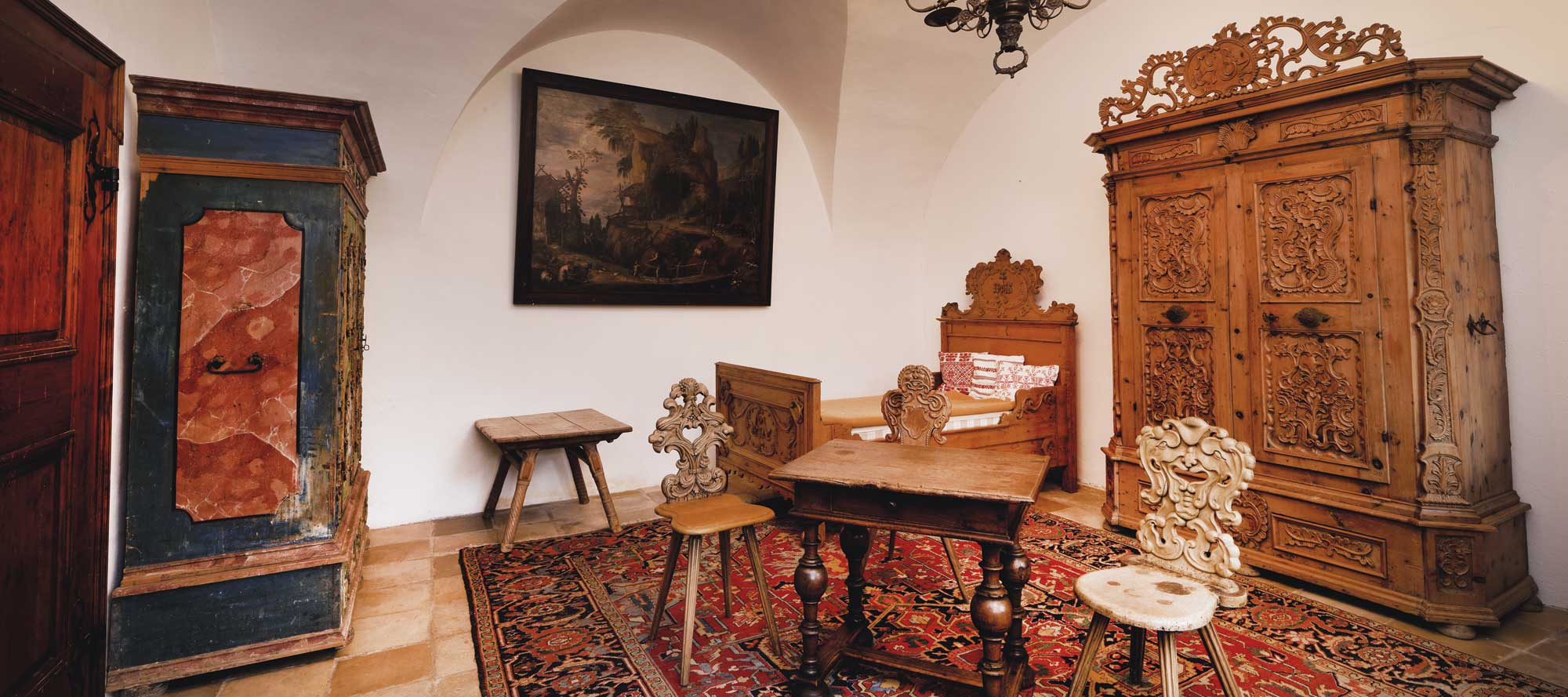 Schloss Schwallenbach, Thematischer Innenraum, Sammlung Reinhold Hofstätter, Dorotheum Auktion am 12.09.2016