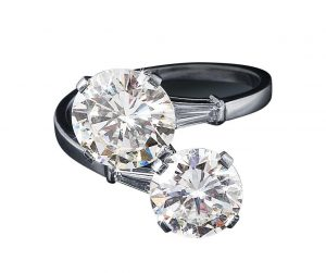 Bulgari diamond ring c. 6 ct brilliants 3.38 ct & 2.35 ct two diamonds