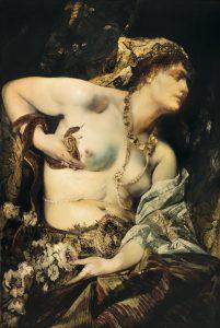 Hans Makart Der Tod der Kleopatra, 1875 Öl auf Holz, 122,5 x 83 cm erzielter Preis € 757.300