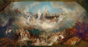 Hans Makart Die Versenkung des Nibelungenhortes im Rhein, um 1882/84, Öl auf Leinwand, 129 x 235,5 cm Schätzwert € 80.000 – 100.000