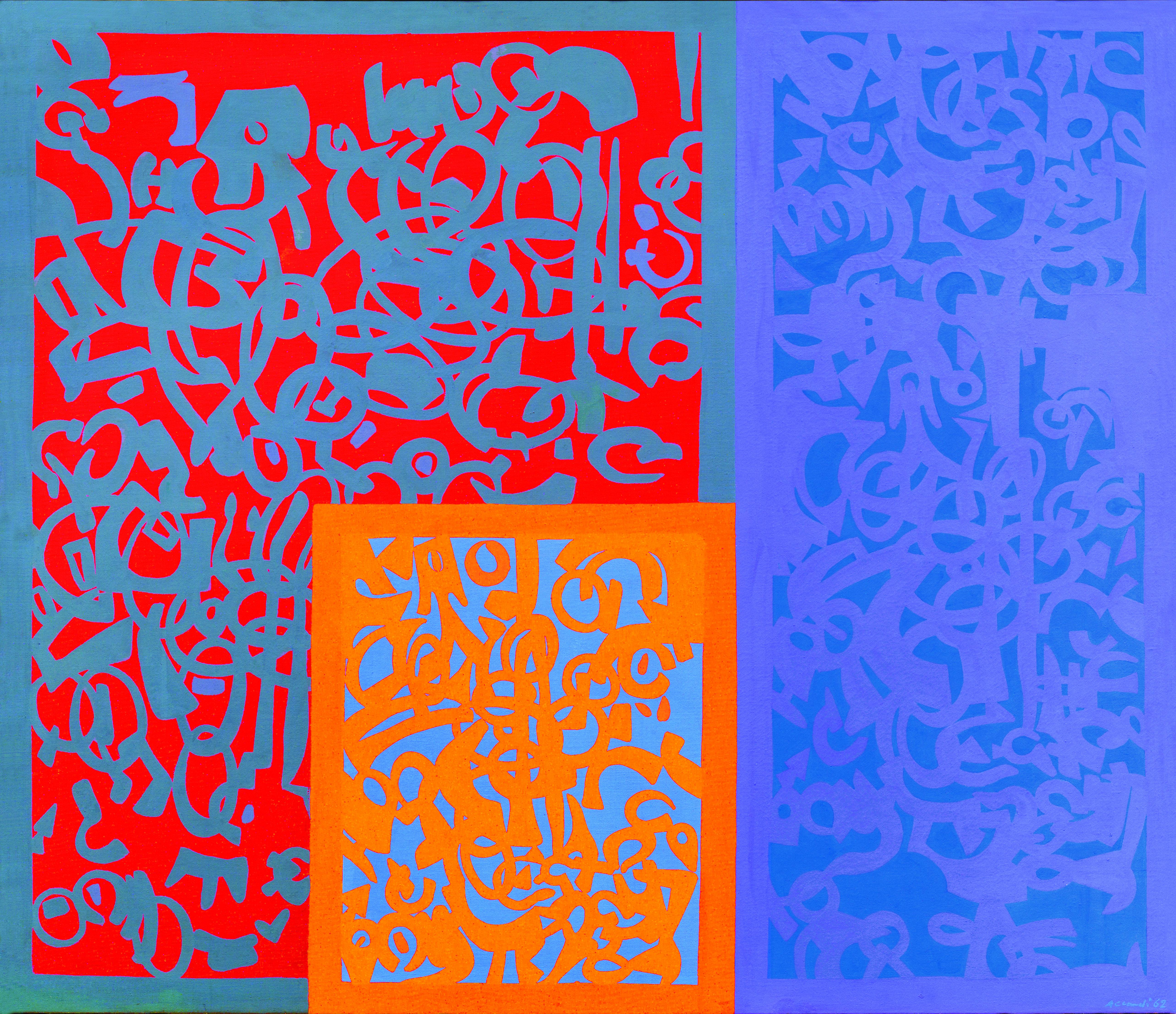 Carla Accardi A Settori, 1962 Kasein auf Leinwand, 120 x 140 cm erzielter Preis € 112.500