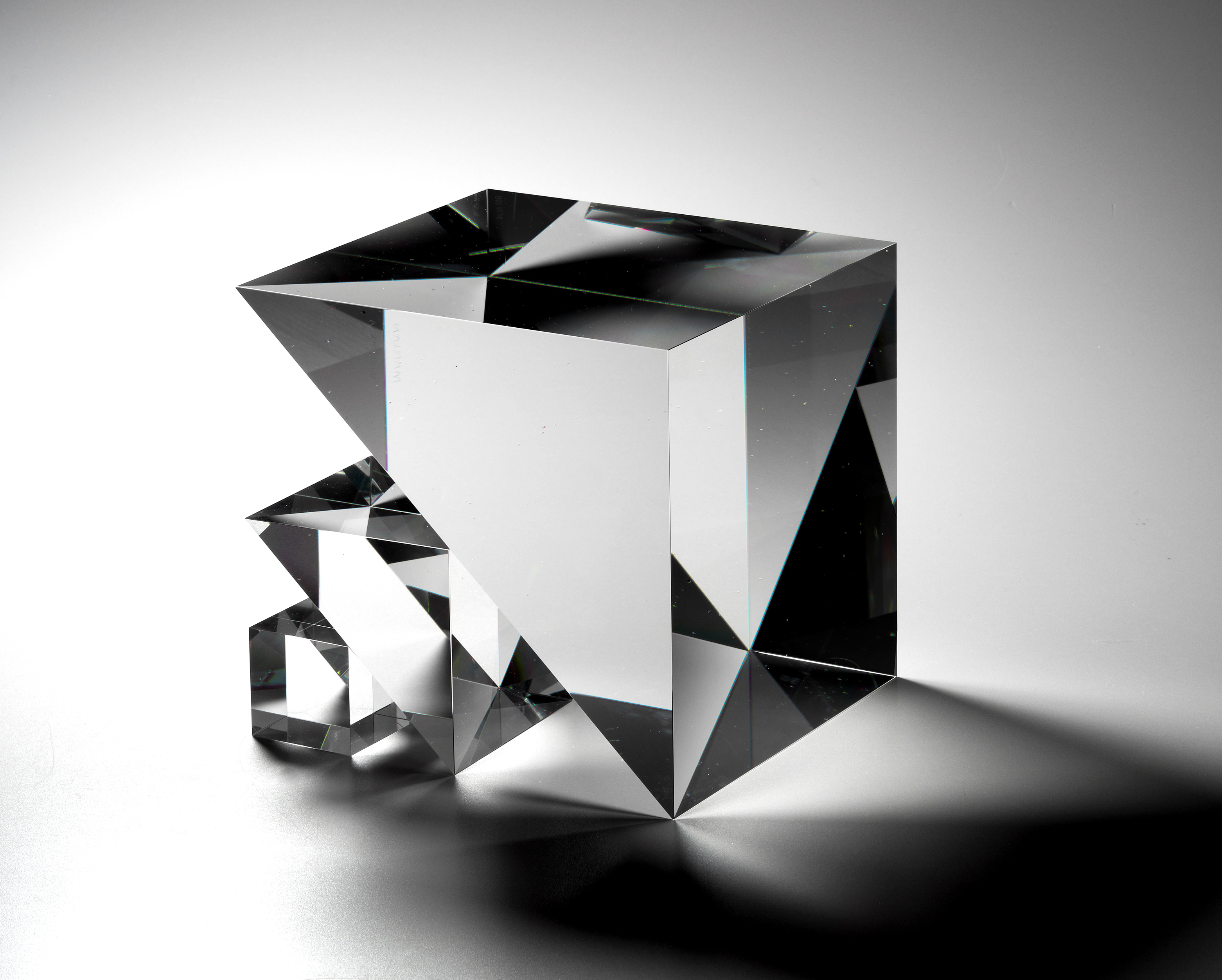 "Czech glass, Marián Karel, ""Cube,"" circa 1980"