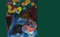 Conrad Felixmüller, Katze mit Herbstblumen (cat with autumn flowers)