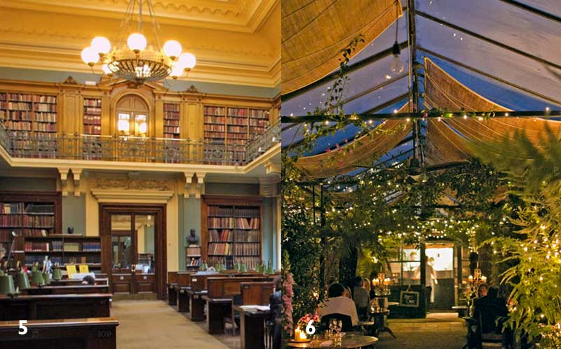 National Art Library, Foto: Victoria and Albert Museum, London Petersham Nurseries Café, Foto: Marimo Images
