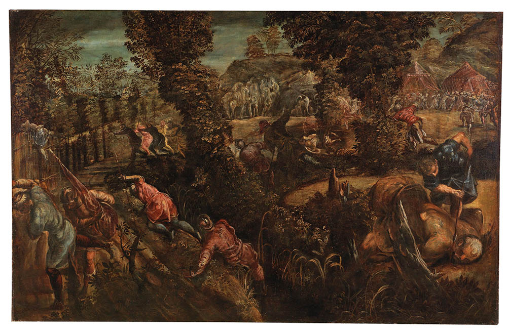 Jacopo Tintoretto (Venice 1519-1594) The Battle between the Philistines and the Israelites