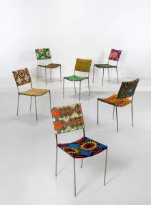 """Franz West, Sechs """"Kodu-Stühle"""", Entwurf 1999"""