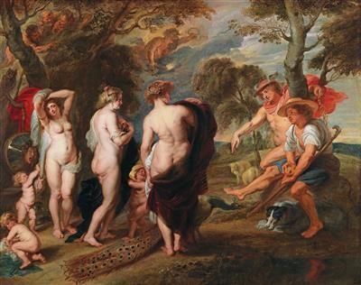 Peter Paul Rubens Werkstatt, Das Urteil des Paris, Öl auf Leinwand, 148 x 188 cm, erzielter Preis € 868.733