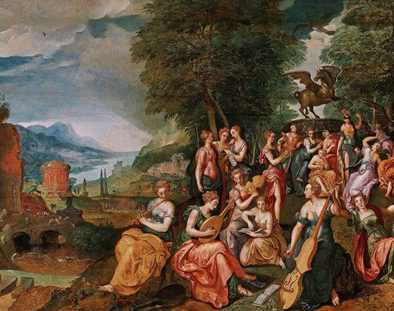 Marten de Vos, Der Wettstreit zwischen den Musen und den Pieriden - Alte Meister 25. April 2017, € 150.000 - 250.000