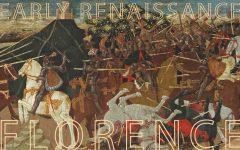Apollonio di Giovanni (1416-1465), The Battle of Pharsalus, tempera on panel, gold ground, 75.7 x 36.5 cm, estimate € 100,000 – 150,000