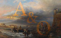 Oswald Athenbach, Die Bucht von Neapel mit dem Vesuv im Hintergrund, 1874, Öl auf Leinwand, 65 x 93 cm, Schätzwert € 60.000 – 80.000