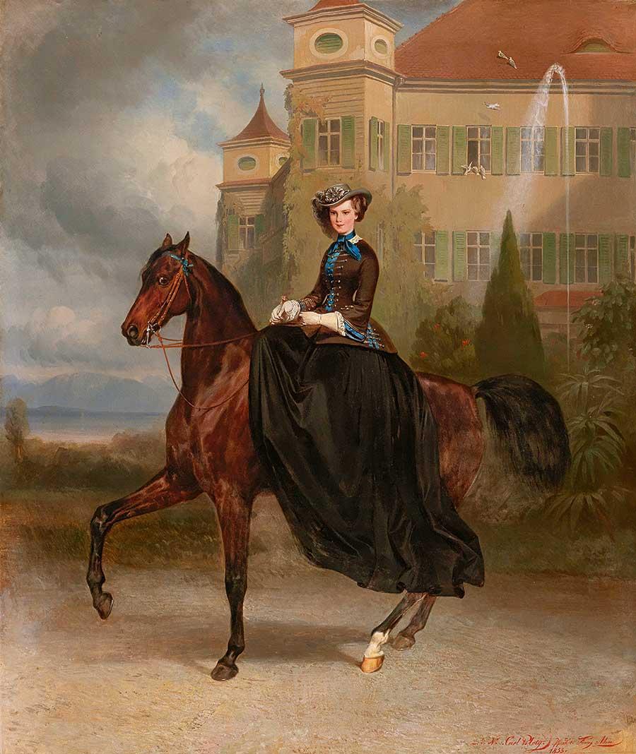 Empress Elisabeth of Austria as a bride in Possenhofen, 1853