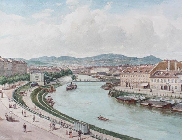 Alt-Wien: Konvolut Wien Motive, Donaukanal - Stadtansichten 17.03.2017, Startpreis € 600