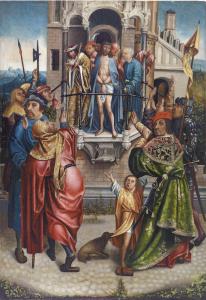 Cornelis Engebrechtsz. (1460/62 - 1527) und Werkstatt, Ecke Homo, Öl auf Holz, 91 x 63 cm, Schätzwert € 60.000 – 80.000