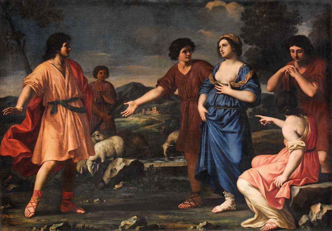 Prominent collections: Giacinto Gimignani, Jacob's encounter with Rachel and Laban