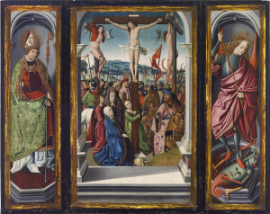 Hispano-Flämische Schule, 2. Hälfte 15. Jh. Triptychon, Öl auf Holz, 102,4 x 130 cm, Schätzwert € 80.000 – 100.000