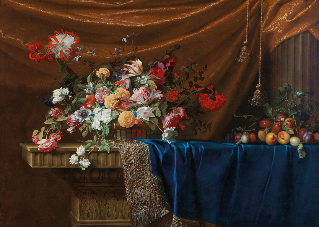 Prominent collections: Jean Michel Picart, Still Life of Basket of Flowers