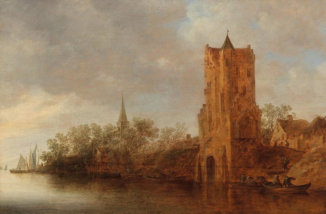 Prominent collections: Jan Van Goyen, A River Landscape with Utrecht's Pelekussenpoort