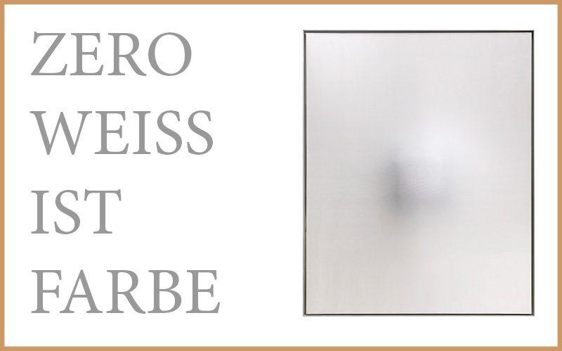Zero-weiss ist farbe
