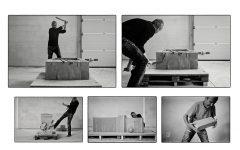 Erwin Wurm Bilder Ausstellung performative Skulpturen