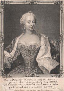 Maria Theresia, Kupferstich von Leopold Schmittner nach Gemälde von Martin van Meytens, nach 1745 - © Österreichische Nationalbibliothek