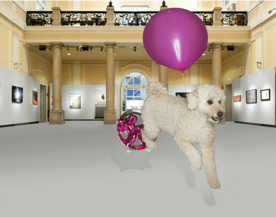 Balloon dog Jeff Koons photo by Brigitte Gradwohl