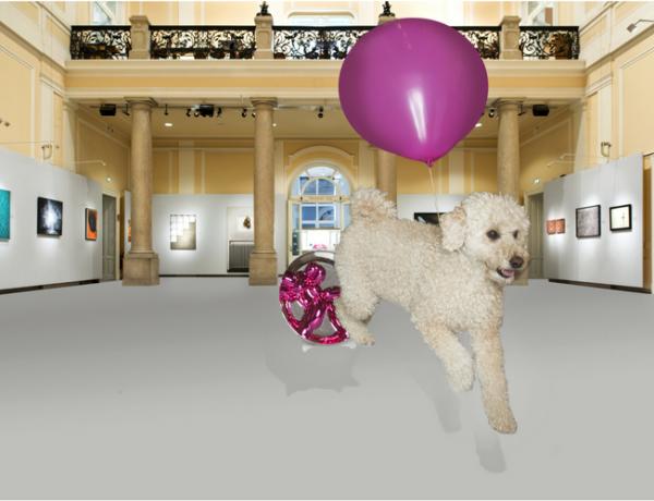 Balloon dog Jeff Koons photo by Brigitte Gradwohl