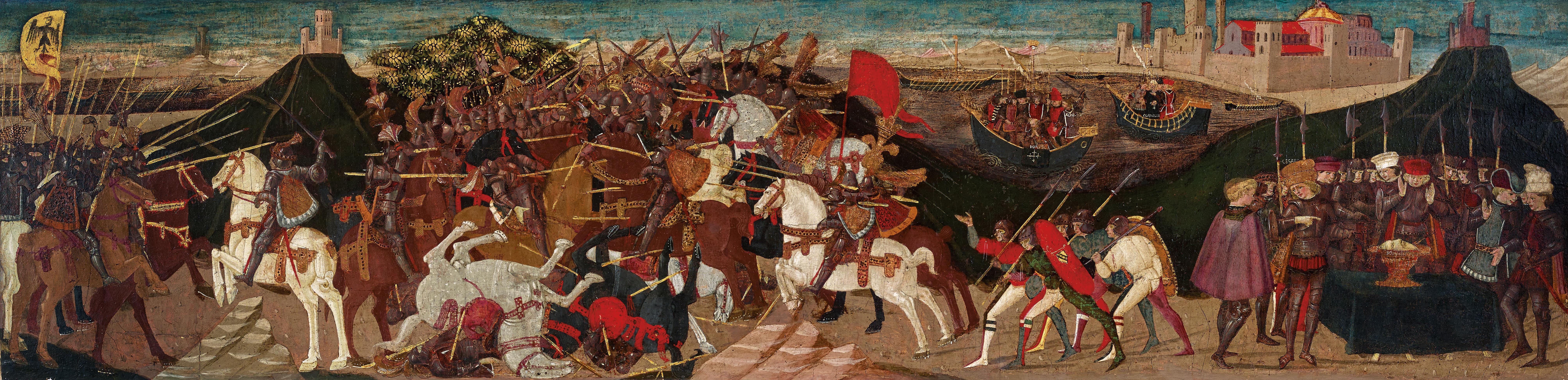 Apollonio di Giovanni, Die Schlacht von Pharsalos, erzielter Preis € 674.000