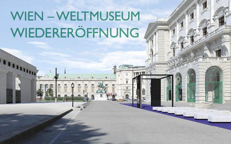Der neue Eingangsbereich des Weltmuseums Wien am Heldenplatz. © Ralph Appelbaum Associates/Hoskins Architects