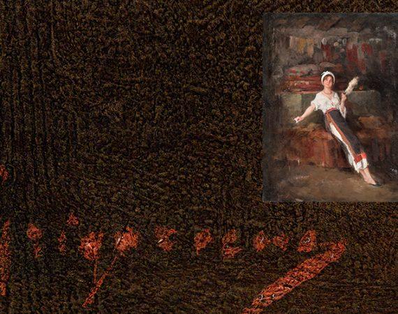 ein maler in paris, die Spinnerin
