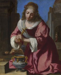 Jan Vermeer (1632–1675) Die heilige Praxedis Öl auf Leinwand, 101,6 x 81,6 cm
