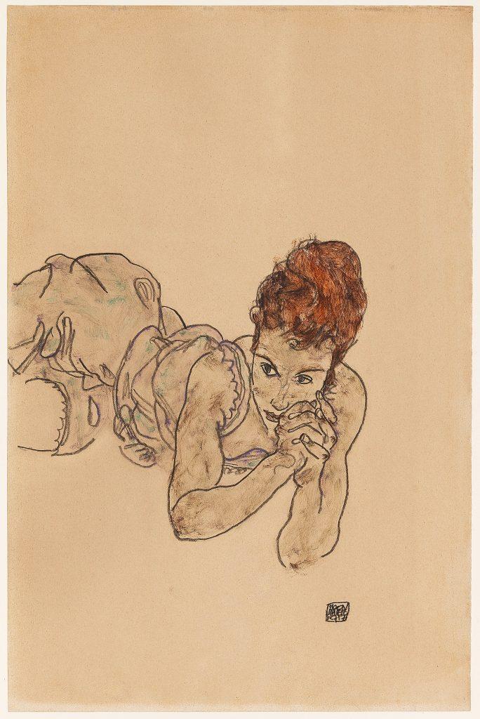 Egon Schiele, Reclining Woman,
