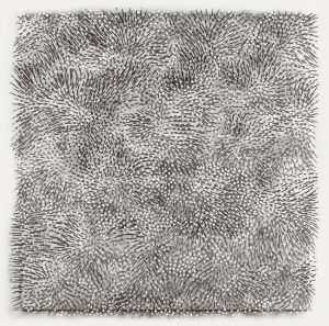 Günther Uecker, Weißer Wind, 1988, acrylic on nails on canvas on Wood, 120 x 120 cm, price realised € 294,000