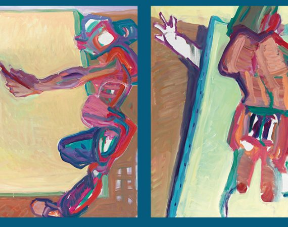 Maria Lassnig Inside and Outside of the Canvas I and II