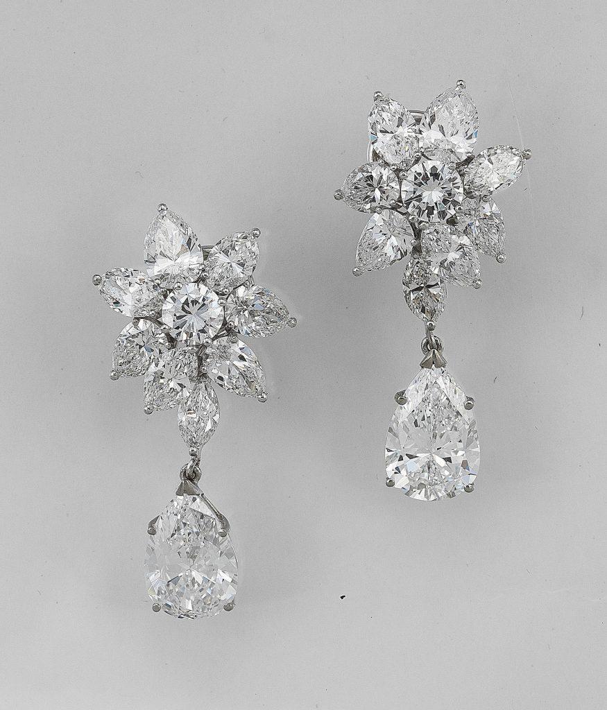 Diamant Ohrclipgehänge